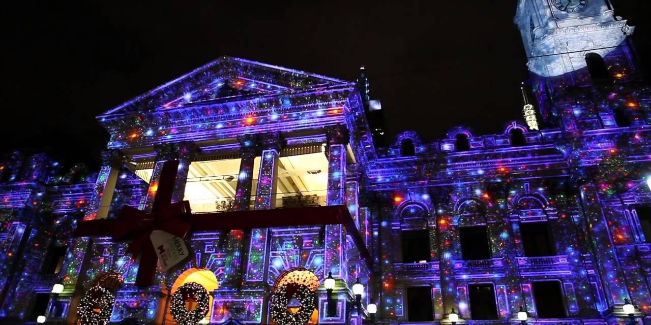 Christmas projection mapping