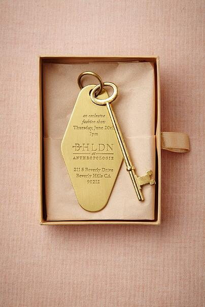 wedding key invite