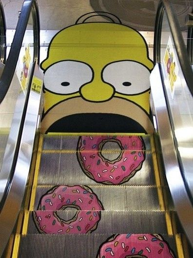 simpsons escalator