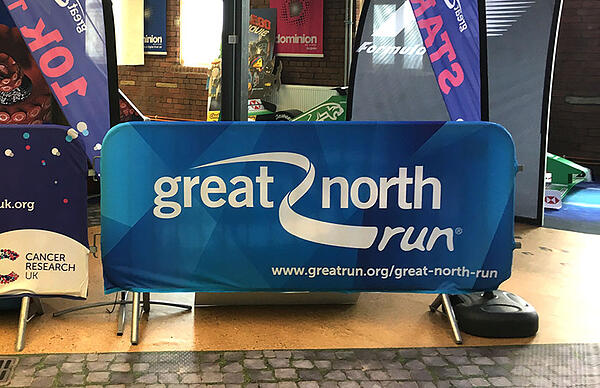 Great north run crowd barrier cover