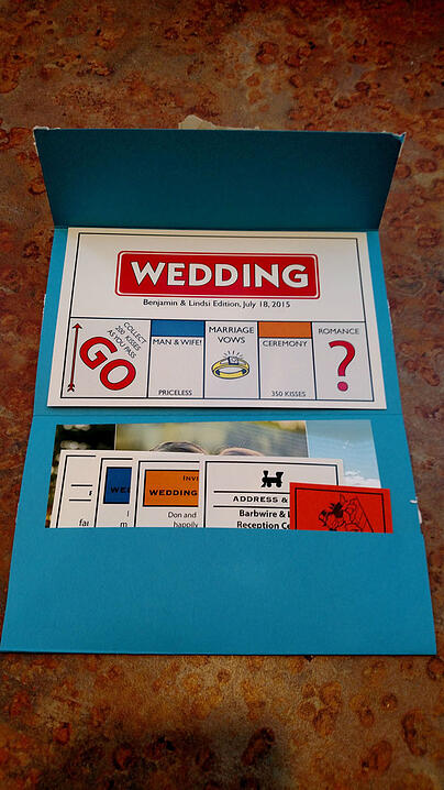 Monopoly Wedding Invite